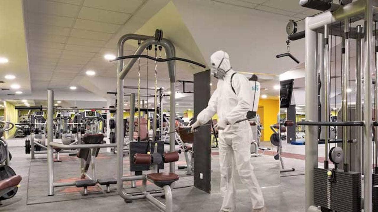 COVID-19 / Coronavirus-Desinfektionsservice Fitnessstudios
