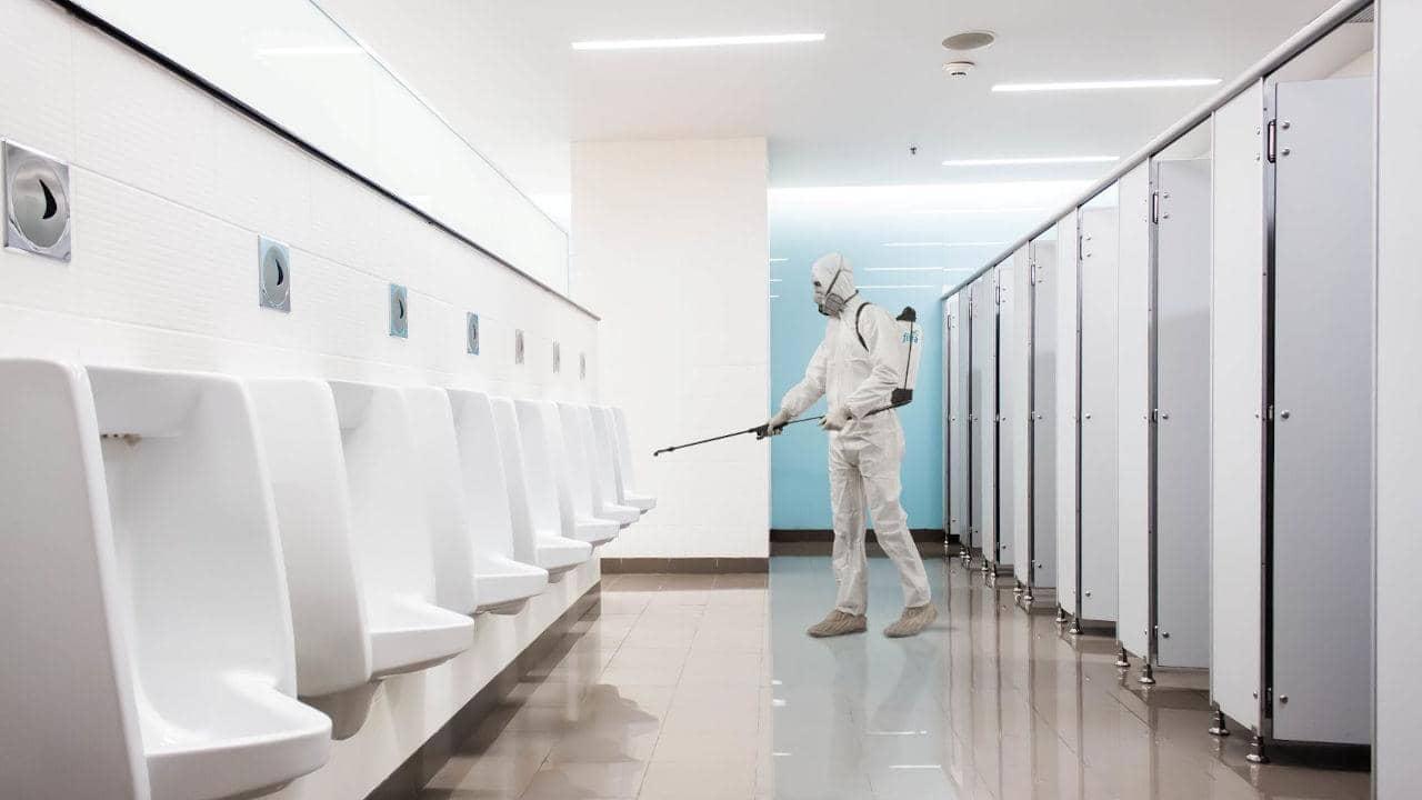 COVID-19 / Coronavirus-Desinfektionsservice Toiletten